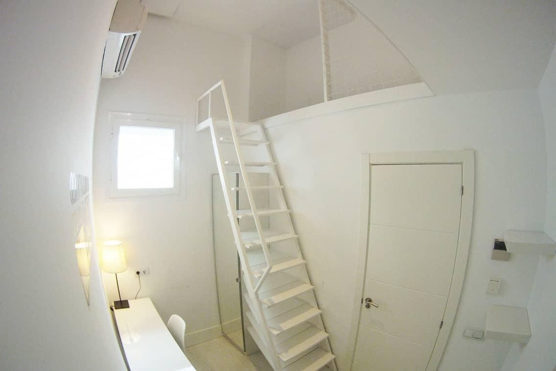 Habitación para unar persona residencia universitaria Gran Vía