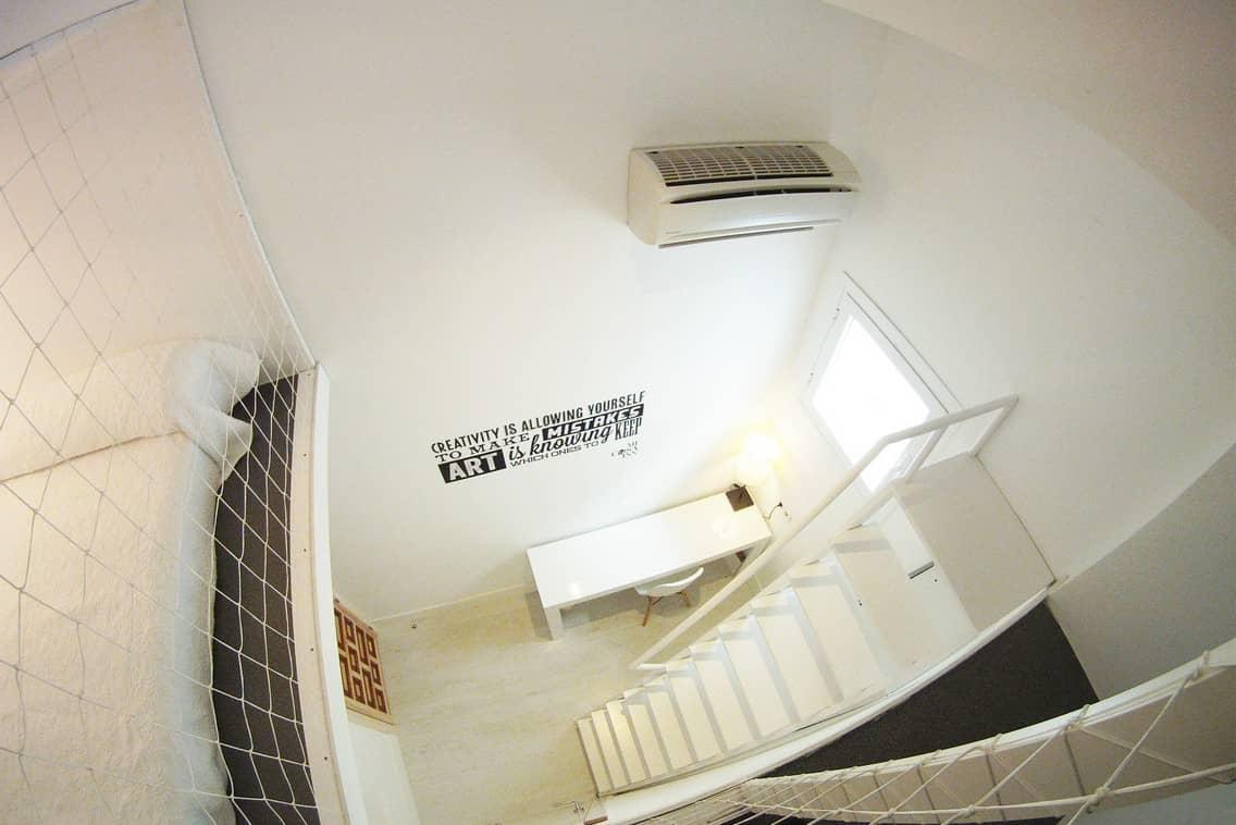 Habitación con baño compartido para estudiantes Gran Vía