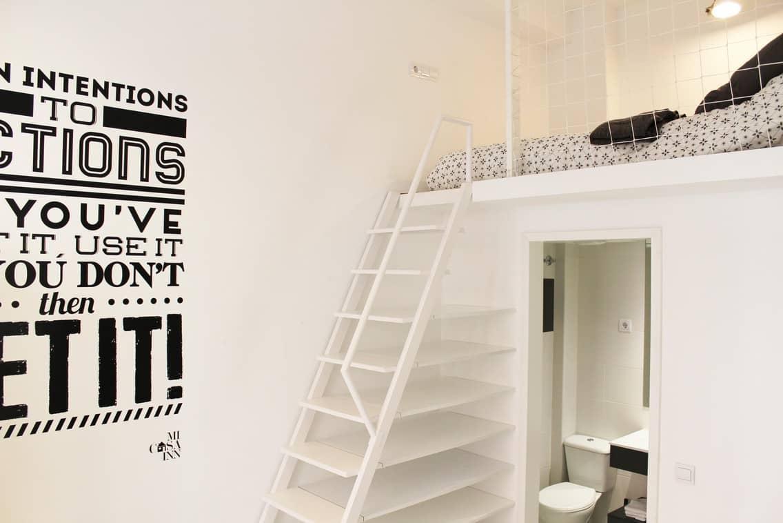 Habitación con baño propio para universitarios en Gran Vía