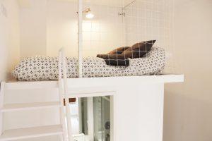 Habitación con cama doble para estudiantes en Gran Vía