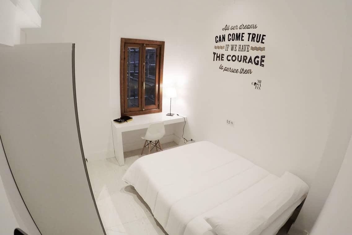 Habitación para estudiantes doble confort en Gran Vía