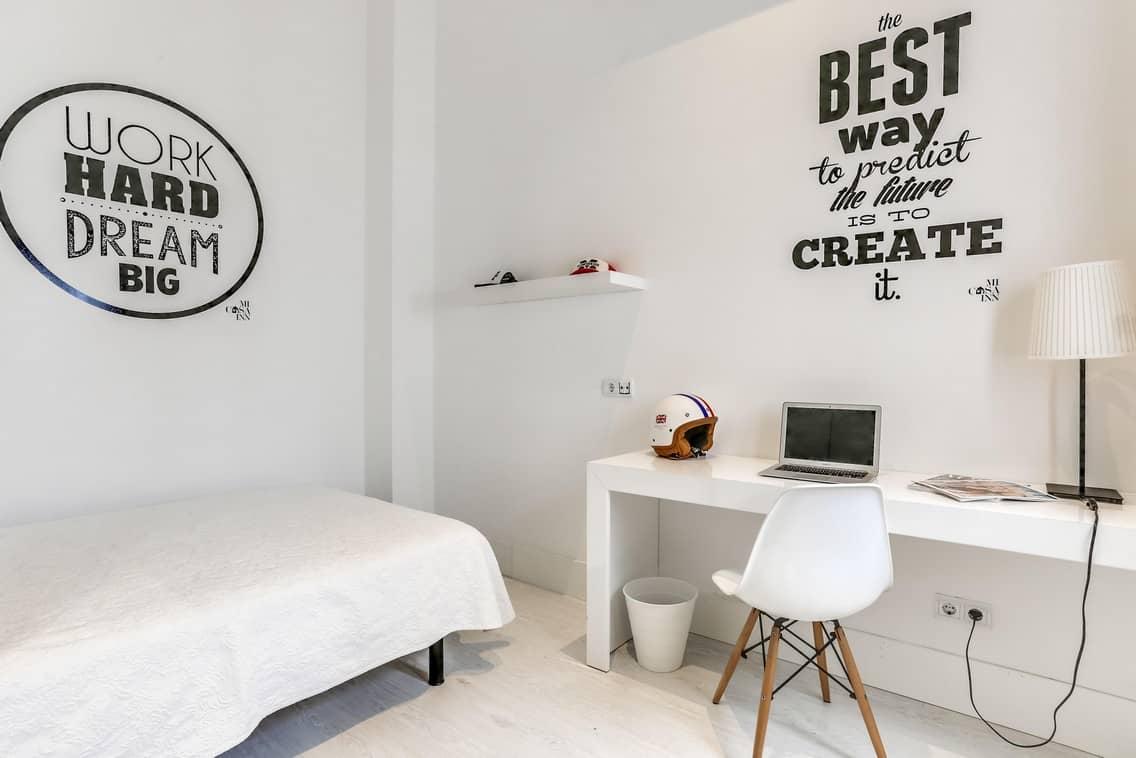 Habitación doble confort para estudiantes en Gran Vía