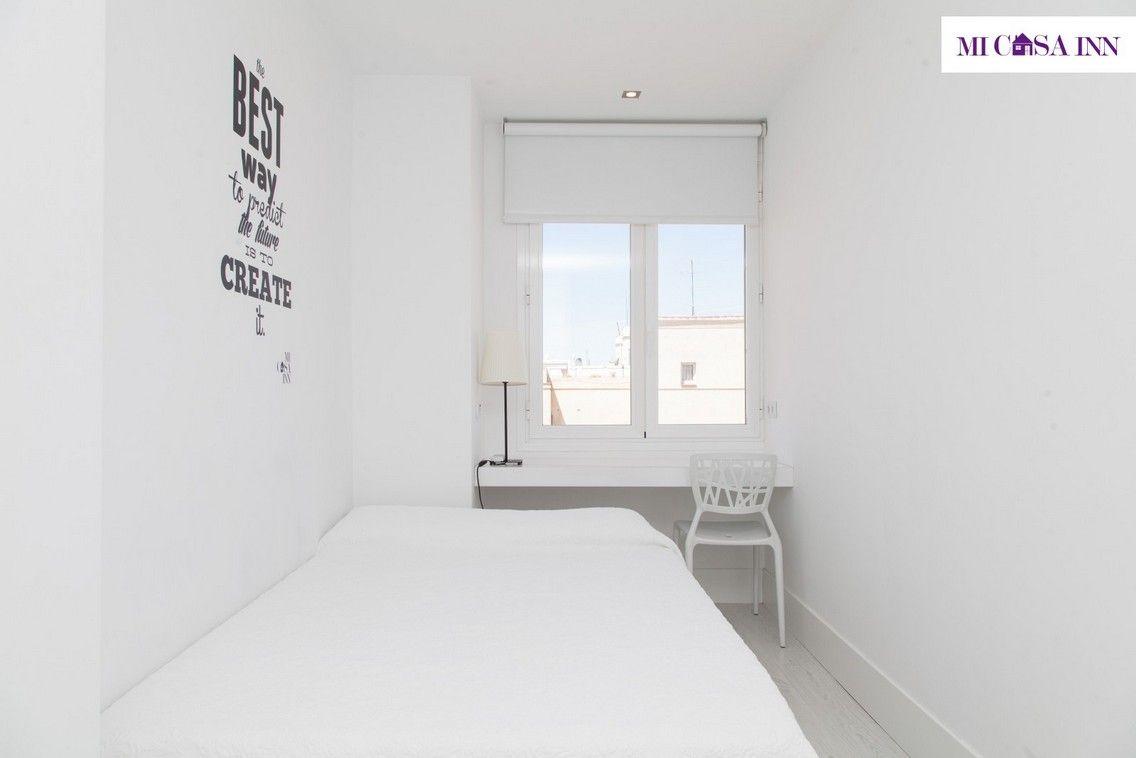 Habitación para estudiante en residencia del barrio Salamanca
