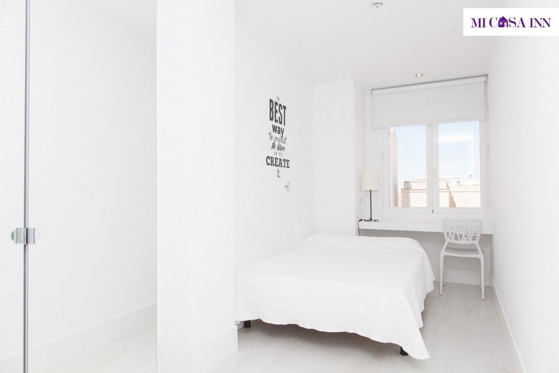 Habitación para estudiantes en residencia del barrio Salamanca