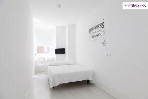 Habitación doble en residencia para universitarios en el barrio Salamanca