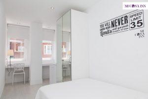 Habitación doble en residencia de estudiantes en el barrio Salamanca