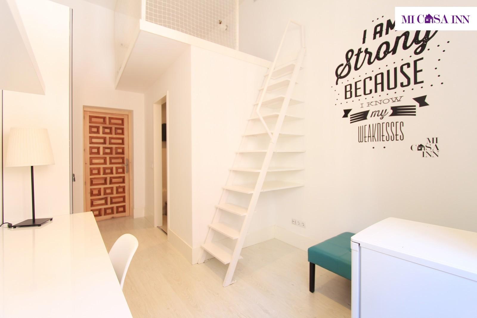 Residencia con terraza para estudiantes en Gran Vía