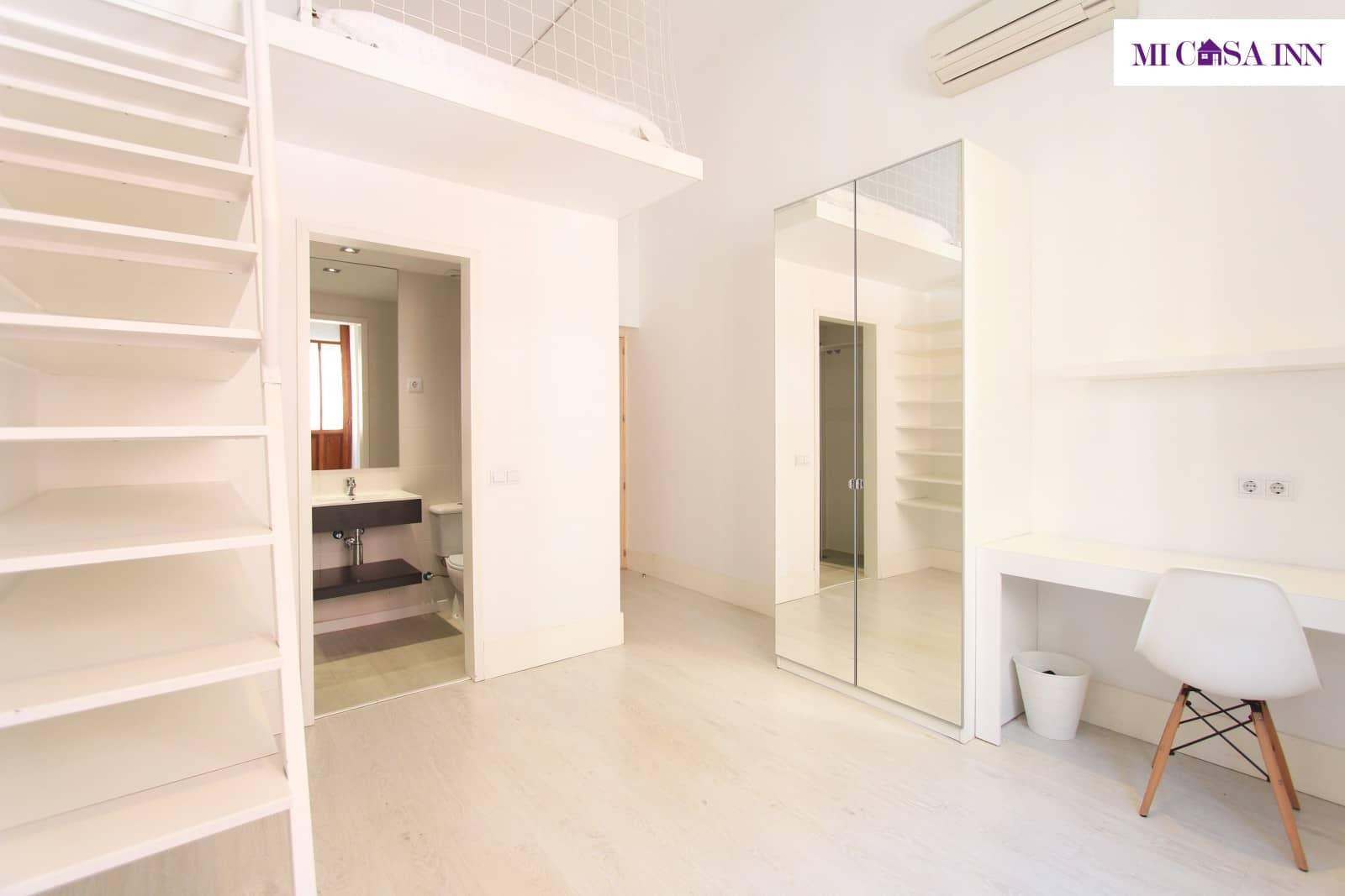 Habitación para estudiantes en Gran Vía con cama doble